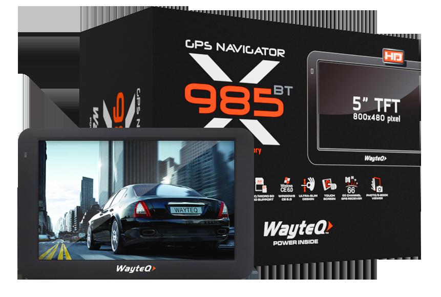 térkép gps Wayteq x985BT HD GPS 5