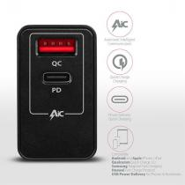 AXAGON ACU-PQ22 Wall Charger PD & Quick Charge 3.0 Dual USB Output 22W Black